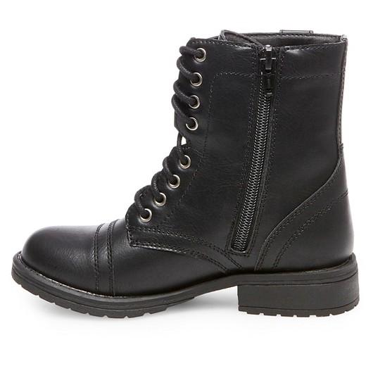 Girls' Lene Lace-Up Boots Cat & Jack™ - Black : Target