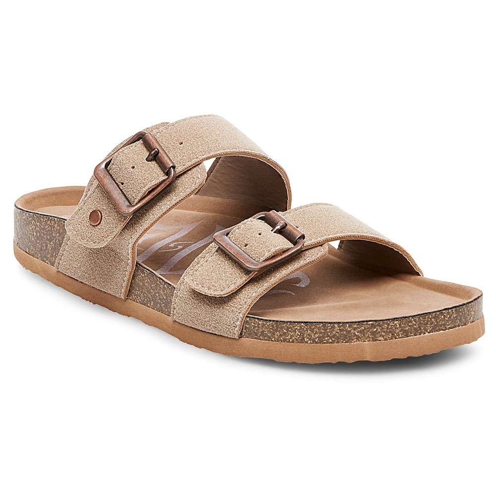 Womens Mad Love Keava Footbed Sandals - Taupe (Brown) 9