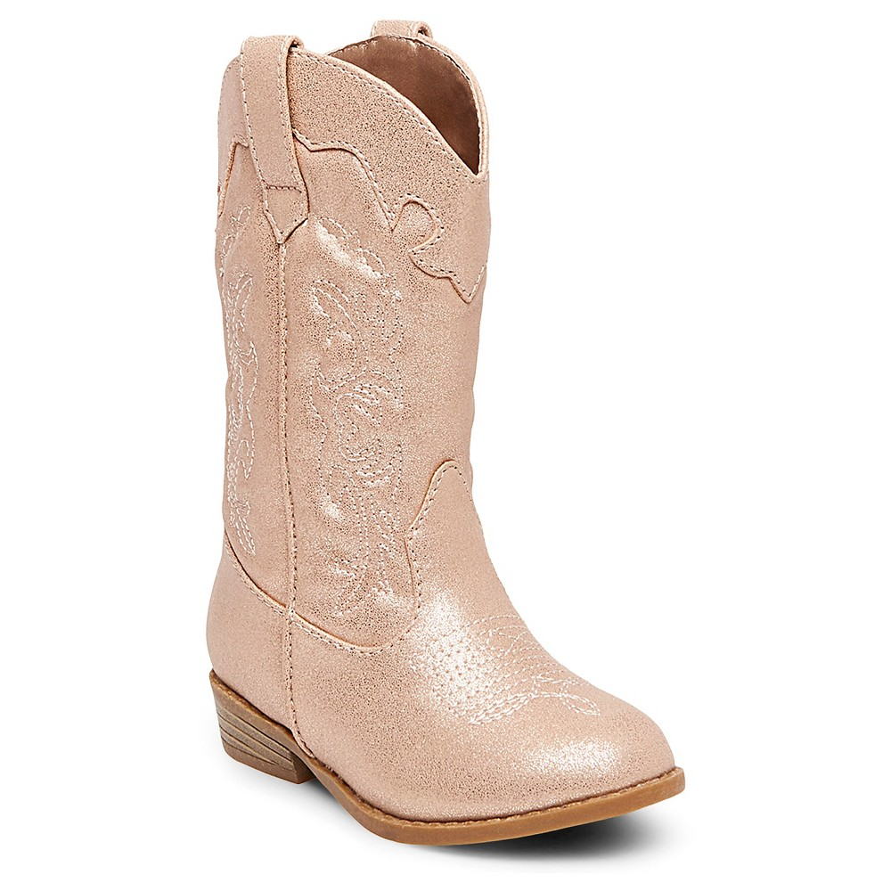 Toddler Girls Natalia Authentic Cowboy Western Boots Cat & Jack - Pink 5