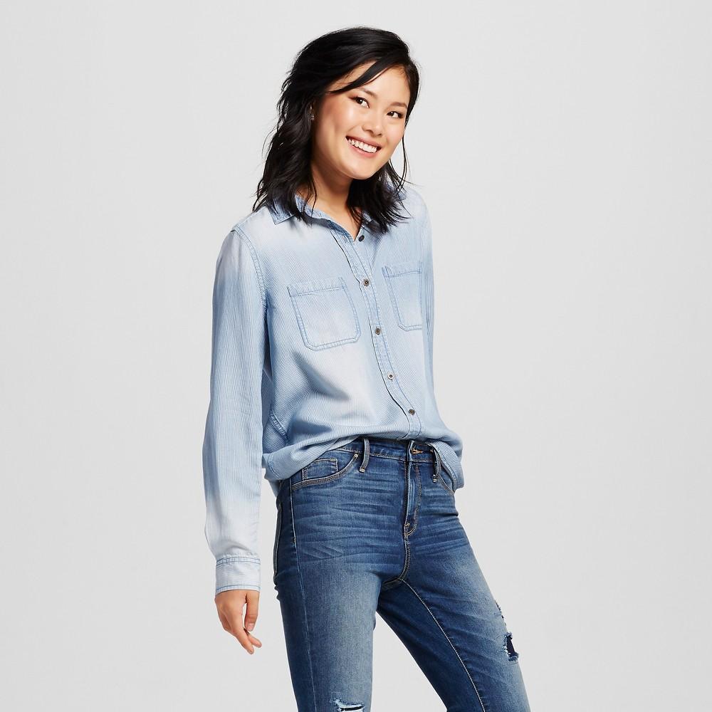 Womens Denim Shirt Medium Wash M - Mossimo Supply Co. (Juniors), Blue