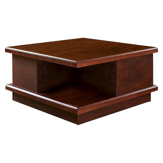 rowena modern square storage coffee table espresso - homes: inside
