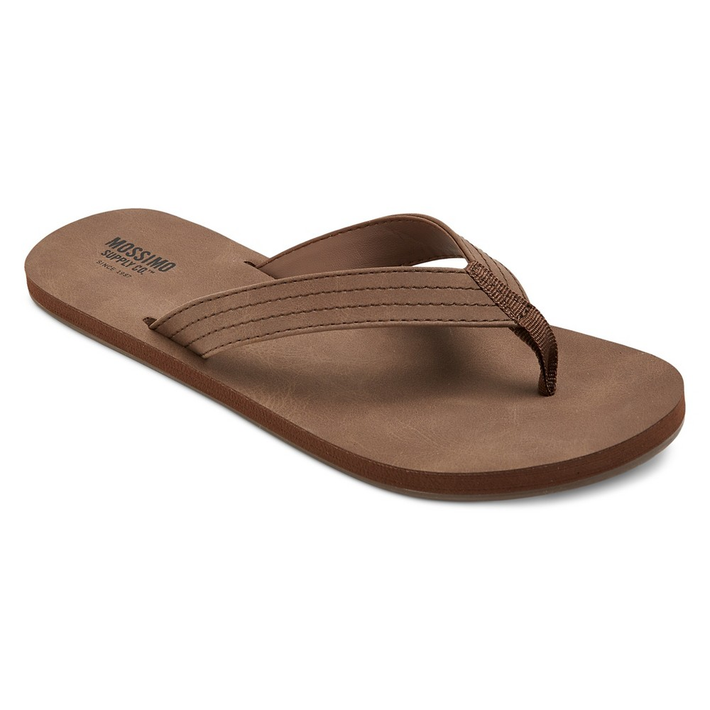 Womens Ophelia Flip Flop Sandals - Mossimo Supply Co. Dark Brown 11