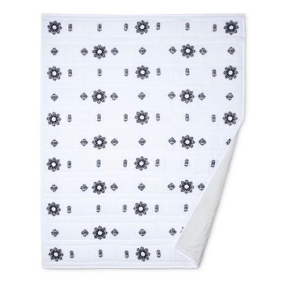 Embroidered Quilt/Coverlet - Black & White - Nate Berkus™