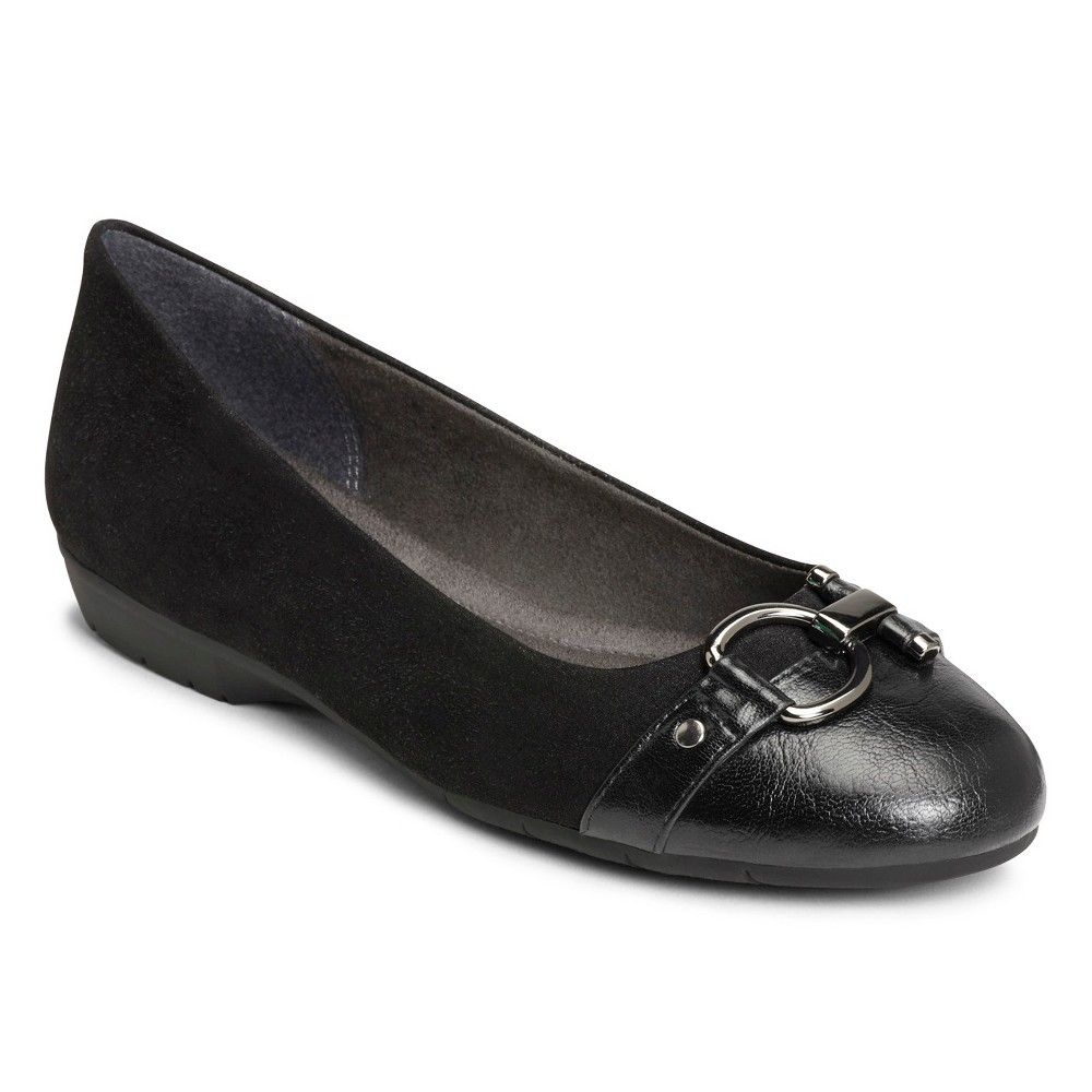 Womens A2 by Aerosoles Ultrabrite Ballet Flats - Black 10