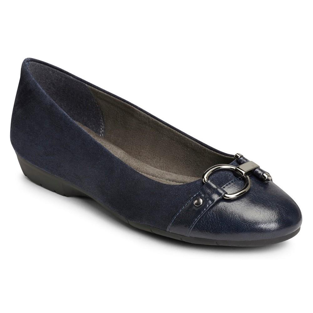Womens A2 by Aerosoles Ultrabrite Ballet Flats - Navy (Blue) 12