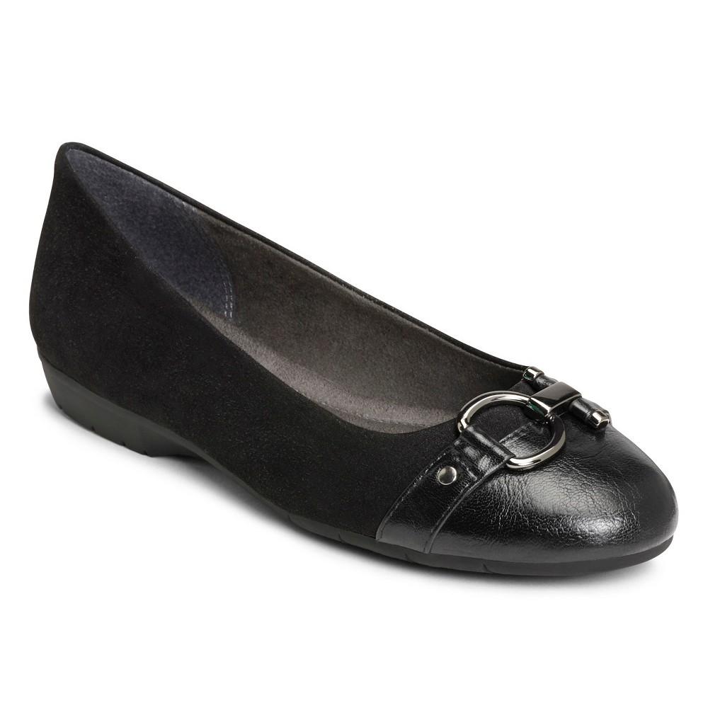 Womens A2 by Aerosoles Ultrabrite Ballet Flats - Black 5