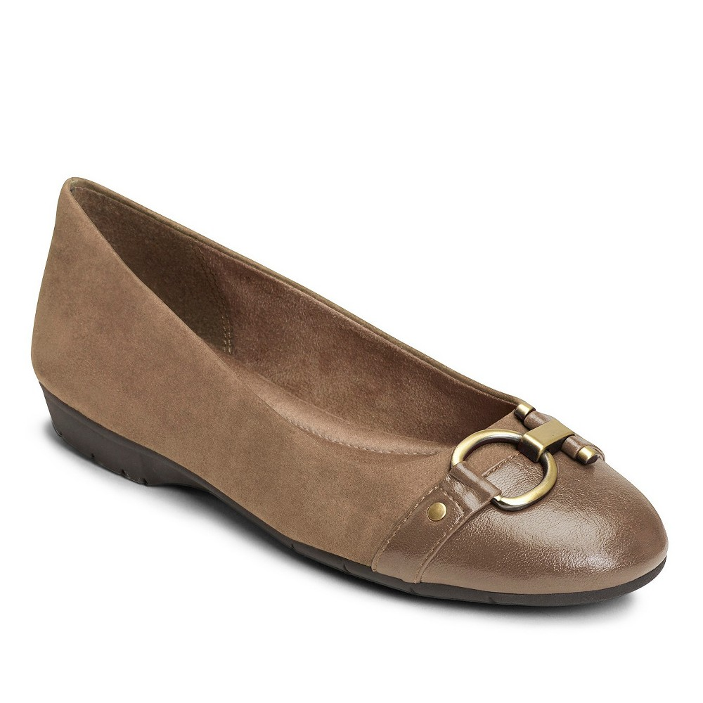 Womens A2 by Aerosoles Ultrabrite Ballet Flats - Taupe Brown 10