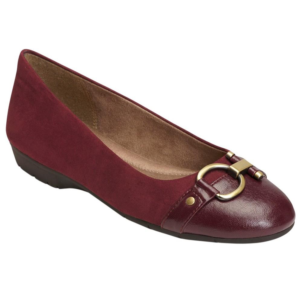 Womens A2 by Aerosoles Ultrabrite Ballet Flats - Wine (Red) 5