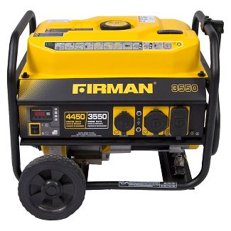 3550/4450 Watt Gas Powered Portable Generator With Wheel Kit And Cover - Firman Power