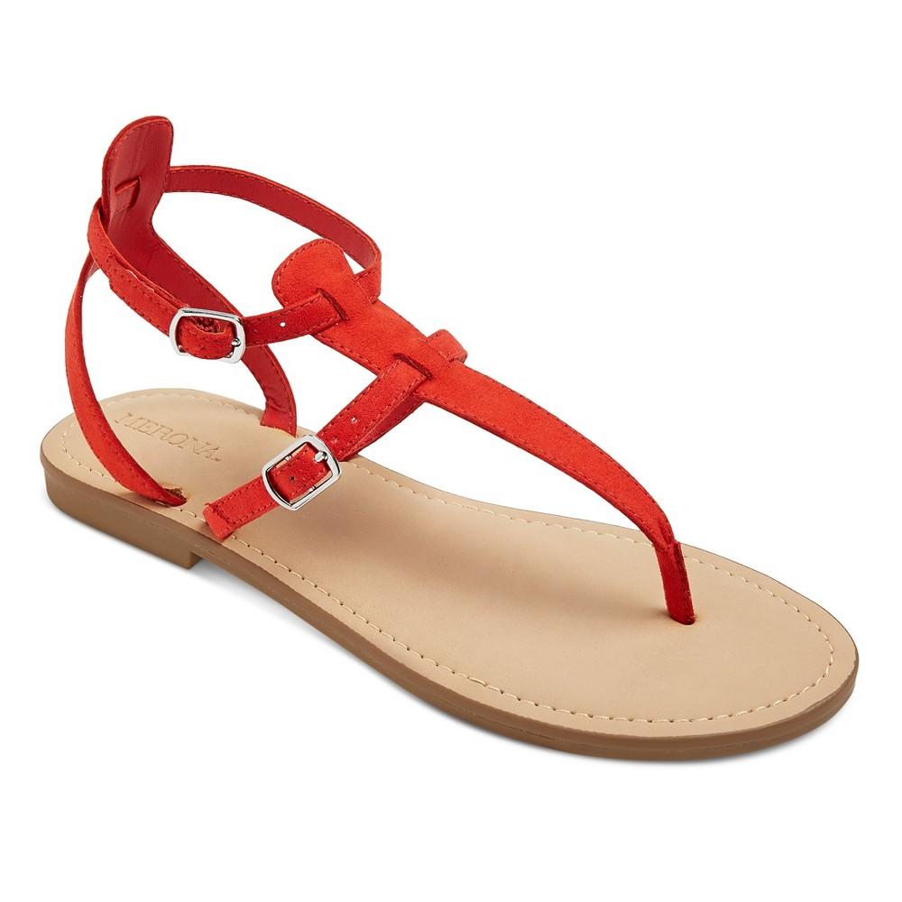 Womens Janelle Quarter Strap Sandals - Merona Red 7