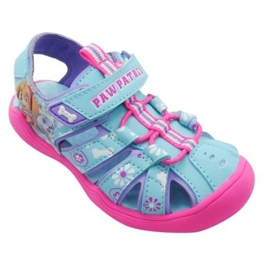Toddler Girls Paw Patrol Hiking Sandals Turquoise Target