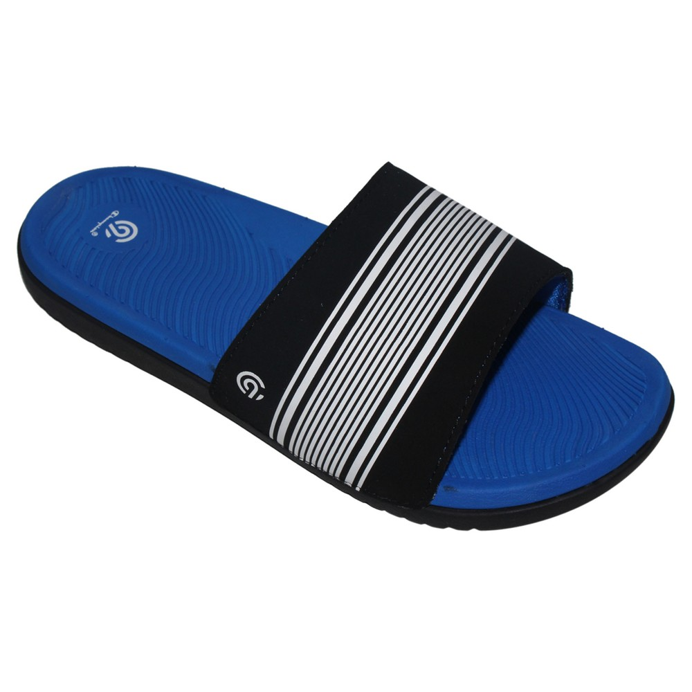Boys Patch Slide Sandals XL - C9 Champion - Blue/Black