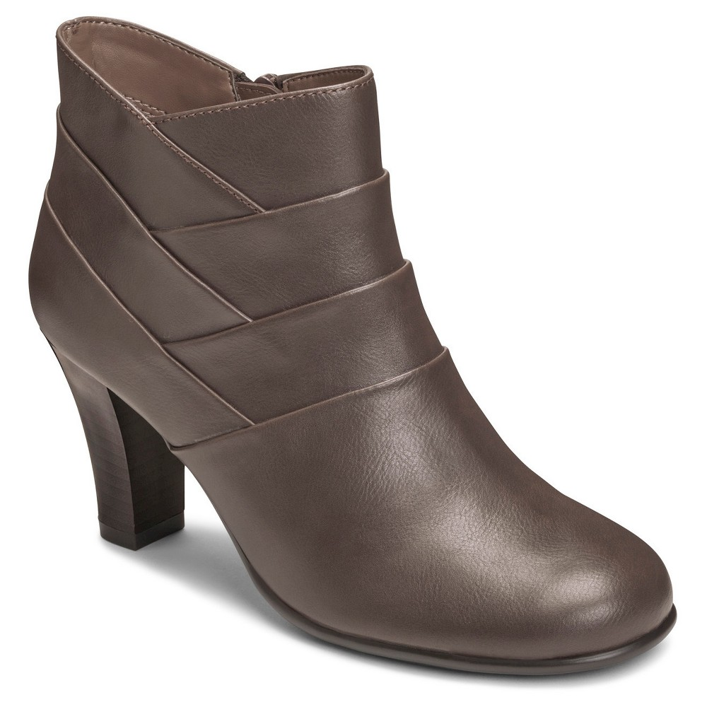 Womens A2 by Aerosoles Best Role Ankle Boots - Taupe Brown 10