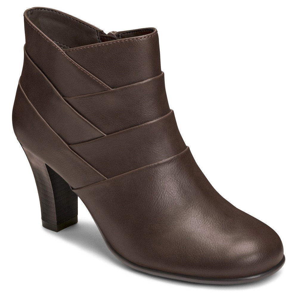 Womens A2 by Aerosoles Best Role Ankle Boots - Brown 11