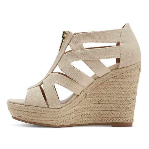 s ruth canvas zipper wedge espadrille sandals