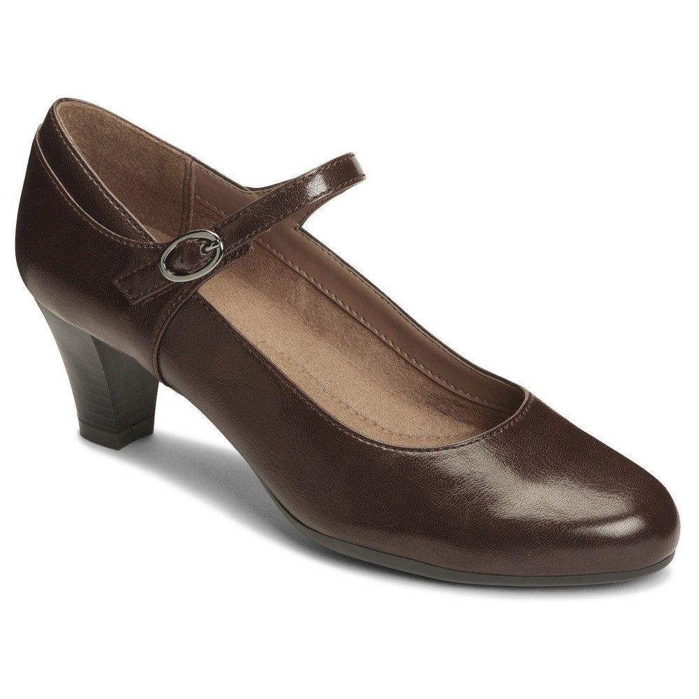 Vintage Style Shoes, Vintage Inspired Shoes Womens A2 by Aerosoles For Shore Mary Jane Shoes - Brown 5 $49.99 AT vintagedancer.com
