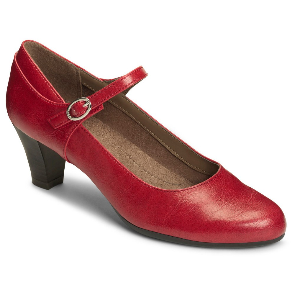 Womens A2 by Aerosoles For Shore Mary Jane Shoes - Red 7