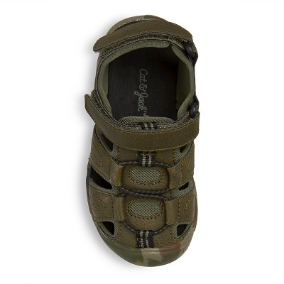 Toddler Boys' Howell Hiking Sandals Cat & Jack - Multi-Colored 12, Toddler Boy's, Green