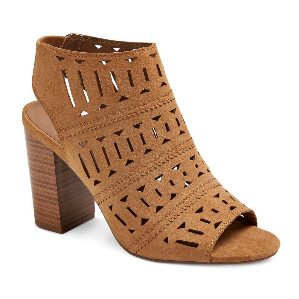 Womens Leigh Laser Cut Shield Heel Pumps - Merona Chestnut 7.5, Brown