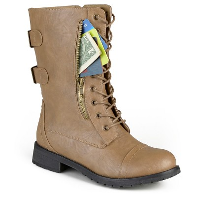 view Women's Journee Collection Kendel Round Toe Tasseled Boots on target.com. Opens in a new tab.