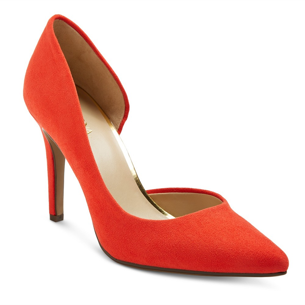 Womens dOrsay Lainee Pumps with 3.75 Heels - Merona Coral (Pink) 5.5