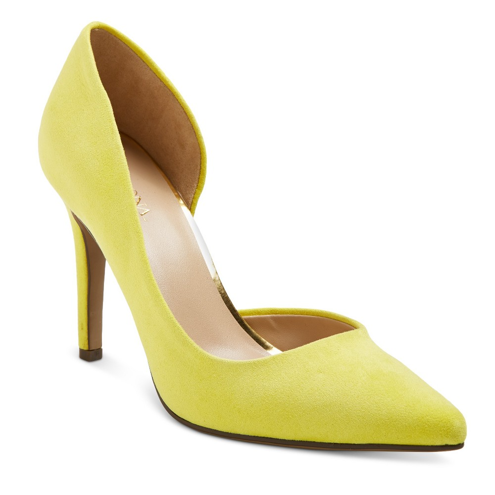 Womens dOrsay Lainee Pumps with 3.75 Heels - Merona Yellow 5.5