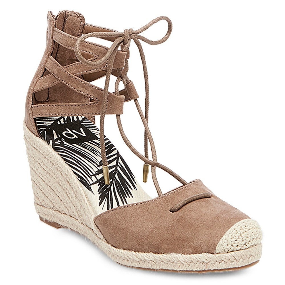 Womens dv Manica Ghillie Espadrille Wedge Sandals - Taupe 5.5, Brown
