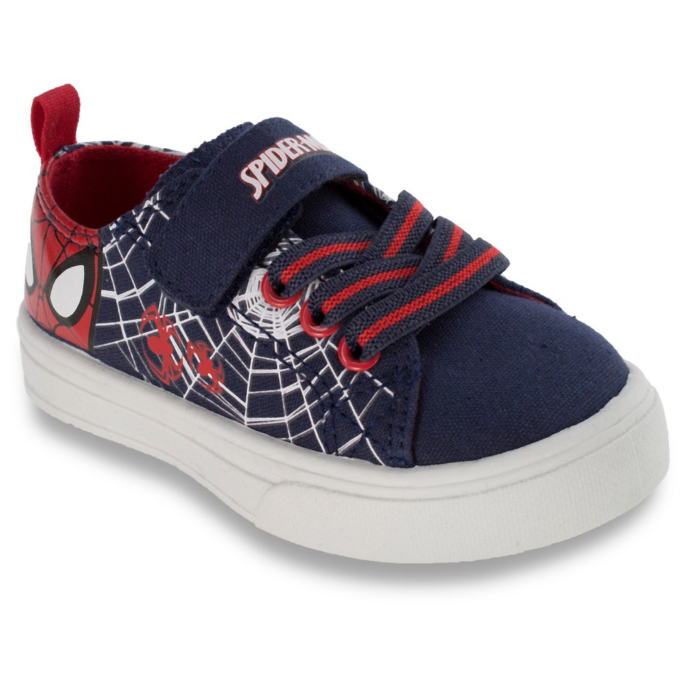 Marvel Toddler Boys' Spider-Man Canvas Sneakers - Navy 13, Blue