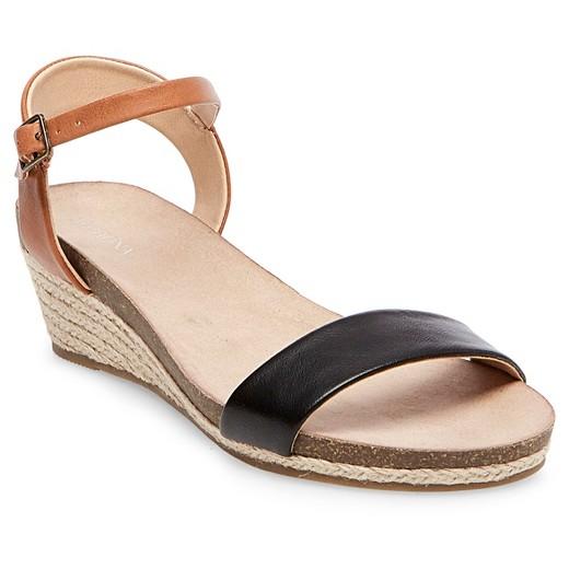 Women's Eve Footbed Wedge Quarter Strap Sandals - Merona™ : Target