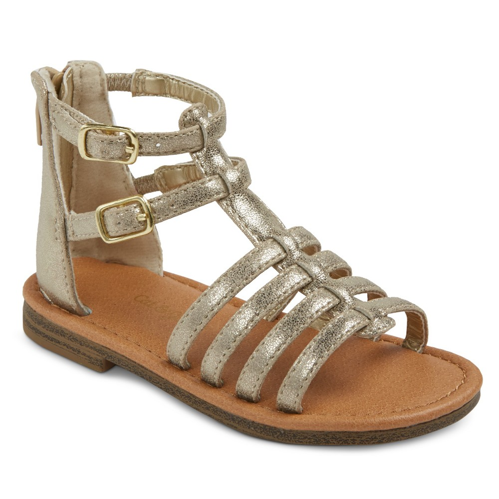Toddler Girls Taylor Classic Gladiator Sandals Cat & Jack - Gold 12