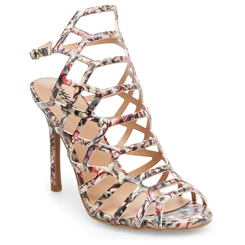 Womens Kylea Caged Heel Gladiator Pumps with Straps Mossimo Black - 7.5, Multi-Colored