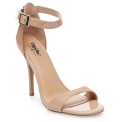 Women's Pamela Ankle Strap Sandals Mossimo™ - Tan 9.5