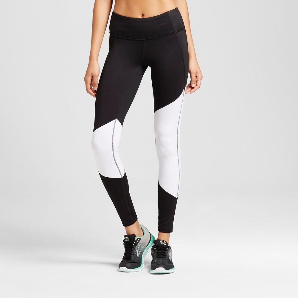 Womens Freedom Asymmetrical Leggings - C9 Champion Black/White/Cire Xxl