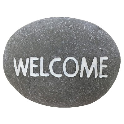 Concrete Welcome Garden Stone - Threshold™