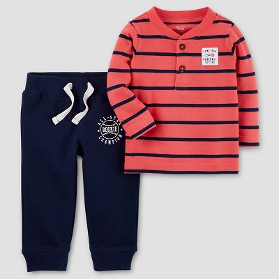 Baby Boys' 2pc Baseball Allstar Set - Just One You™ Made by Carter's® Orange/Navy 6M