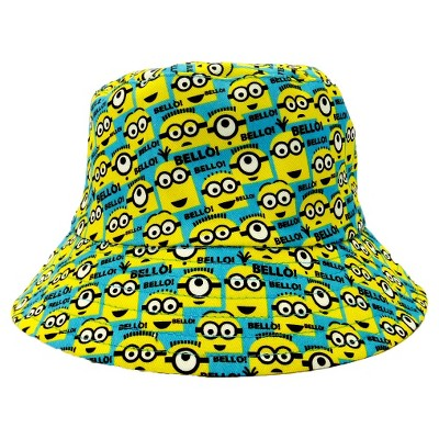 Kids Cotton Gardening Bucket Hat - Multi Color - Minions