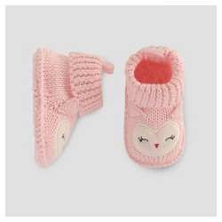 Baby Girls' Knit Owl Booties - Just One You™ Made by Carter's® Pink NB