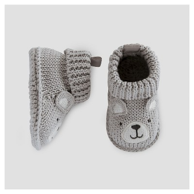 Baby Boys' Bear Booties - Just One You™ Made by Carter's® Gray Newborn