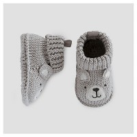 Baby Boys' Bear Booties - Just One You Made by Carter's® Gray NB. opens in a new tab.