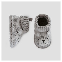 Baby Boys' Bear Booties - Just One You™ Made by Carter's® Gray NB
