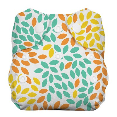 Thirsties All-in-One Snap Reusable Diaper, Newborn - Fallen Leaves