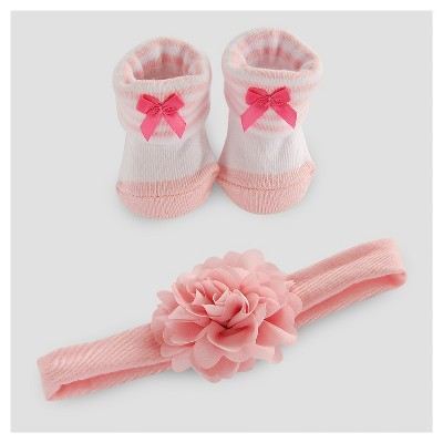 Baby Girls' Booties and Hair Set - Just One You™ Made by Carter's® Pink NB