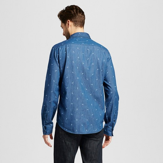 Navy Blue Long Sleeve Shirt Mens Artee Shirt