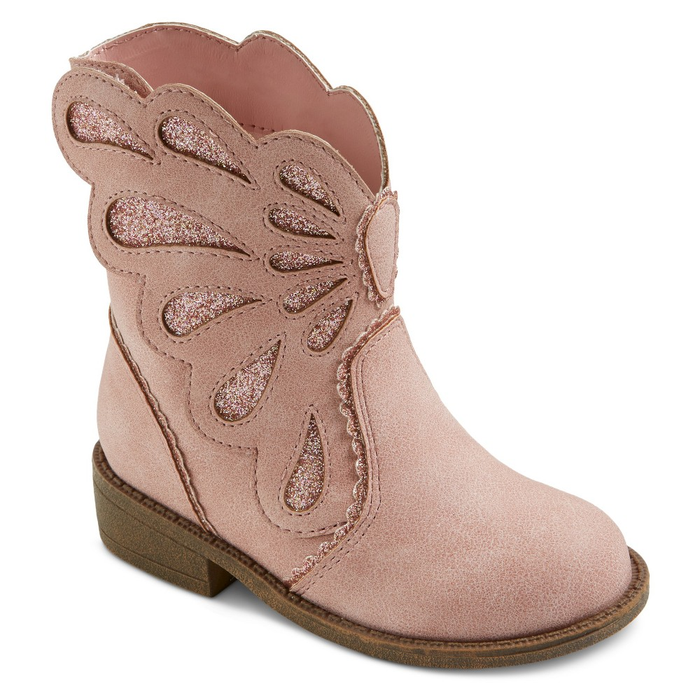 Toddler Girls Cece Influenced Butterfly Western Boots Cat & Jack - Pink 5