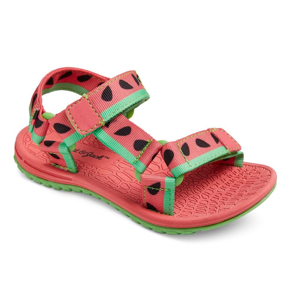 Toddler Girls Daleney Double Strap Sport Slide Sandals Cat & Jack - Coral (Pink) L