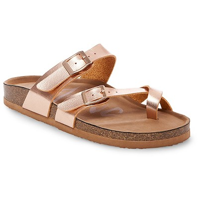 Women's Mad Love® Prudence Footbed Sandals - Rose Gold 7