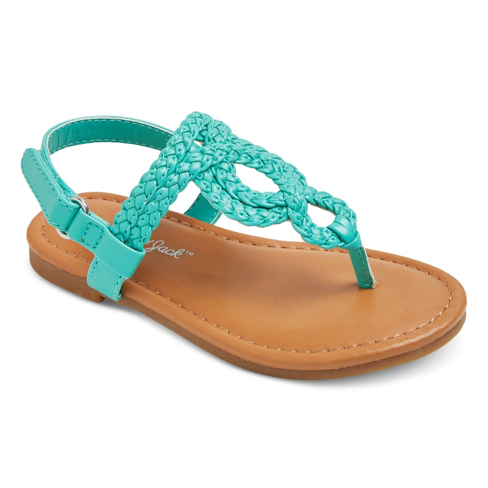 Toddler Girls Liddie Braided Thong Sandals Cat & Jack - Turquoise 5
