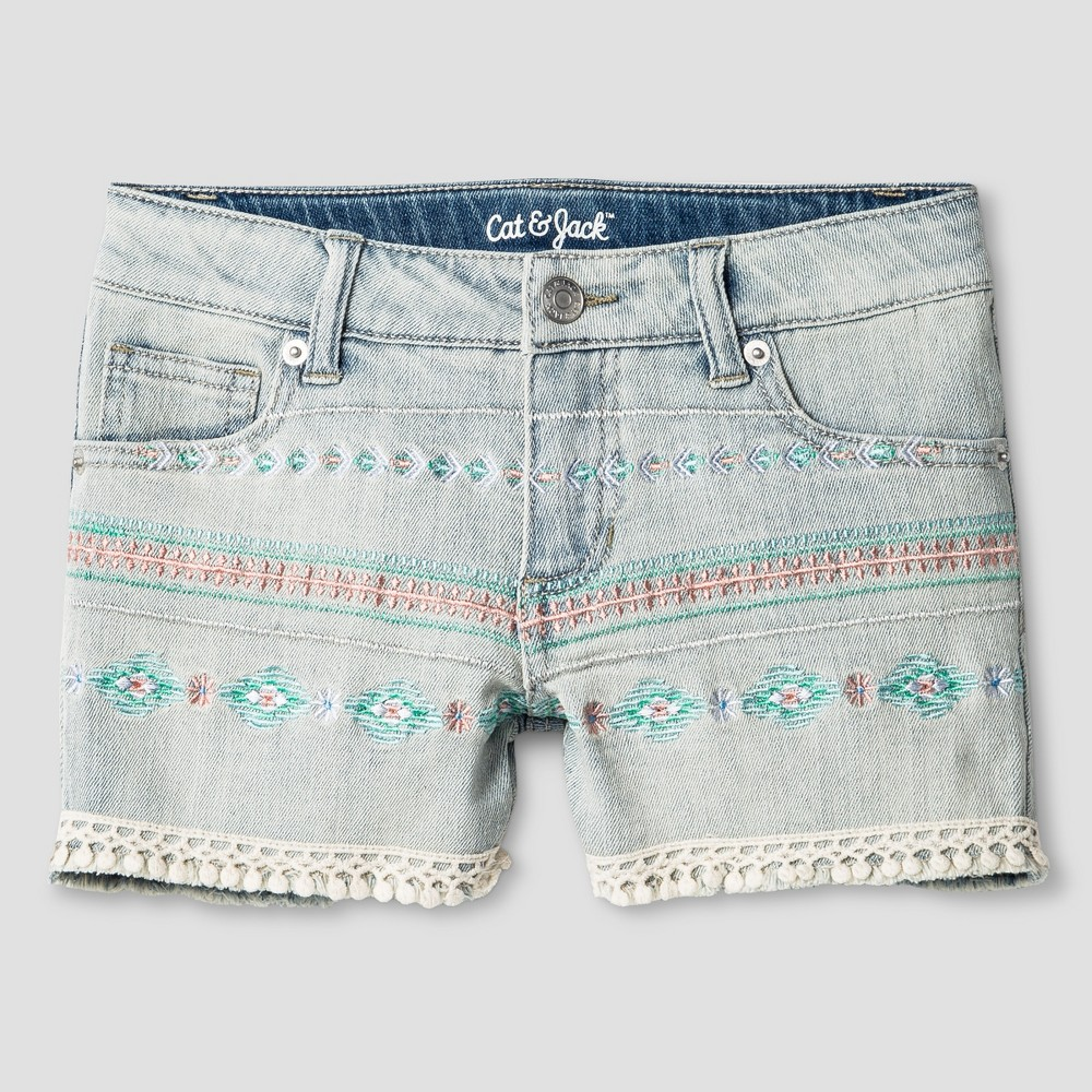 Plus Size Girls Fashion Shorts - Cat & Jack Light Denim M Plus, Blue