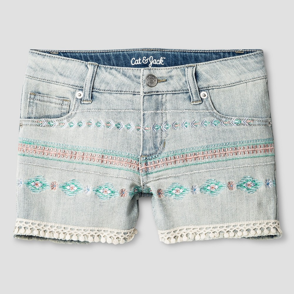 Girls Fashion Shorts - Cat & Jack Light Denim Xxl, Blue