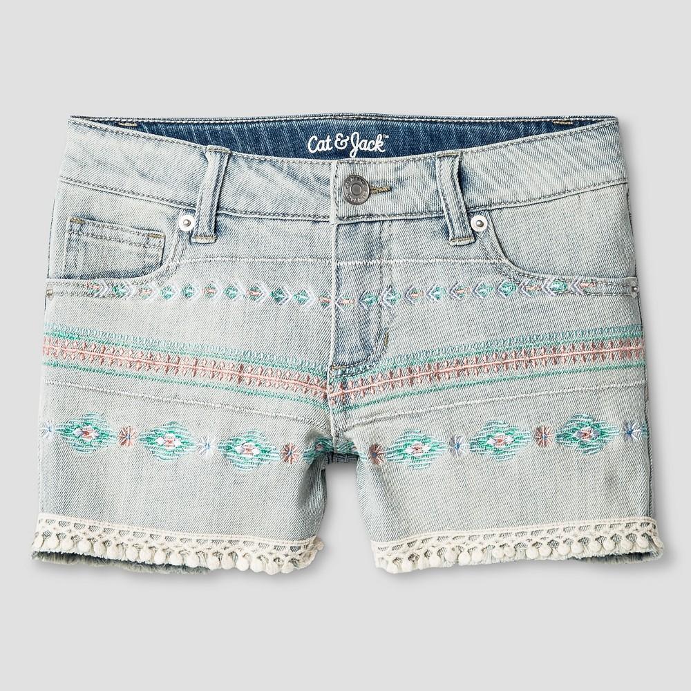 Girls Fashion Shorts Cat & Jack Light Denim XL, Blue